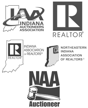 Indiana Auctioneers Association, National Auctioneers Association, National Association of Realtors, Indiana Association of Realtors, Northeastern Indiana Association of Realtors