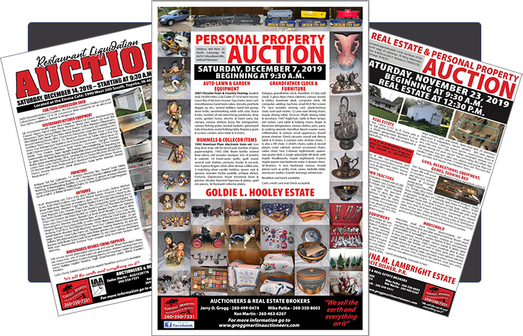 Grogg-Martin Auction Flyers