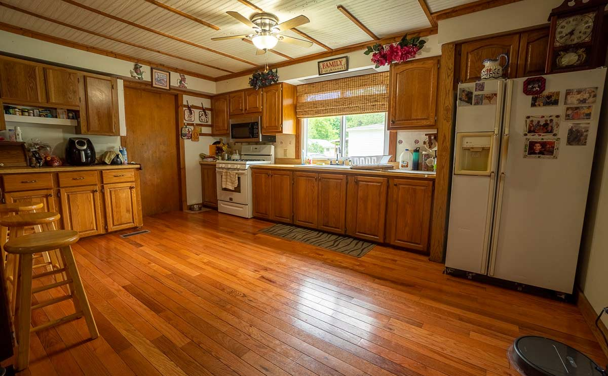Kitchen of home for sale in Millersburg, Indiana: 117 West Main Street