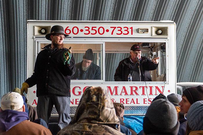 Dallas Martin calling an auction.