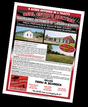 Thumbnail Image: Noah A. Schrock Real Estate Auction Flyer
