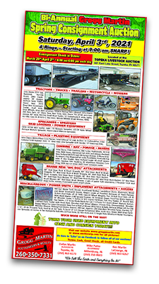 2021 Bi-Annual Spring Equipment Consignment Sale Flyer