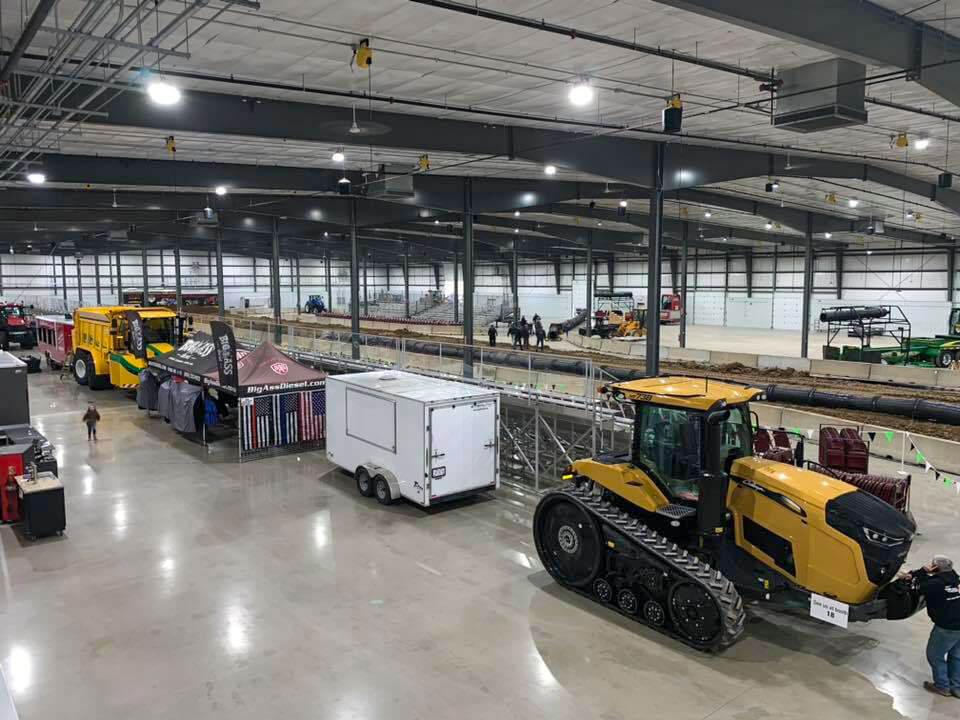 Farm Equipment on display for the 2021 Michiana Farm Show in Shipshewana