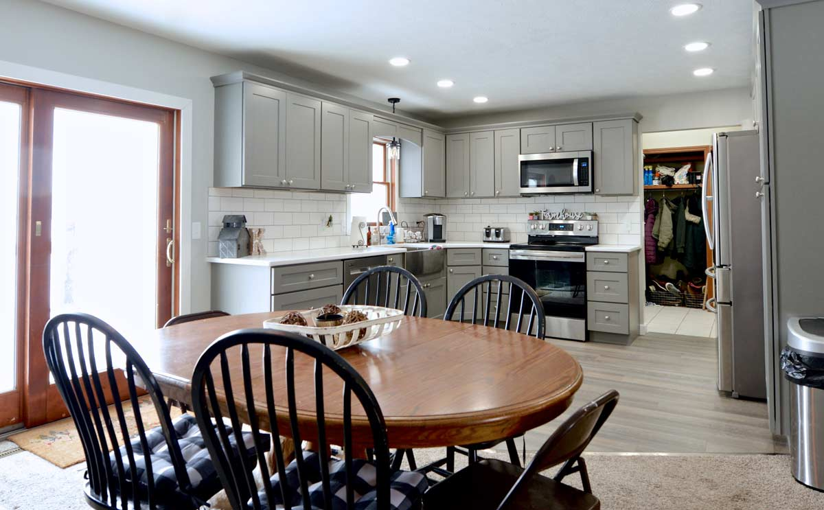 Dining Room & Kitchen of Home for Sale: 6525 N 450 W, Shipshewana, Indiana