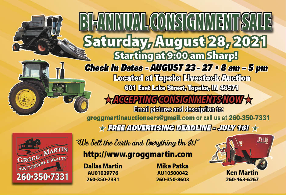 2021 Bi-Annual Fall Consignment Auction from Grogg-Martin Auctioneers